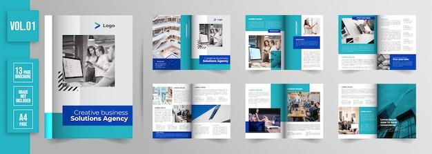 Бизнес брошюра минимальных страниц