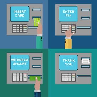 現金自動預け払い機は、コレクションをデザイン