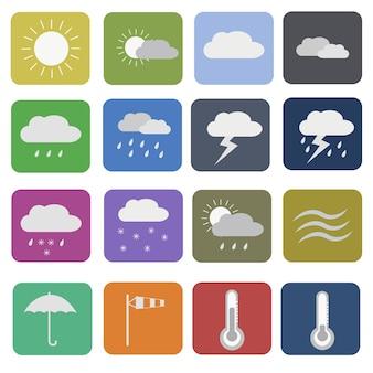 Коллекция иконок погоды