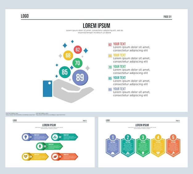 Симпатичный набор инфографических элементов