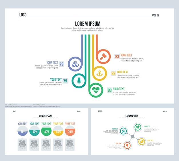 Фоновая презентация с инфографическим и статистическим слайдом