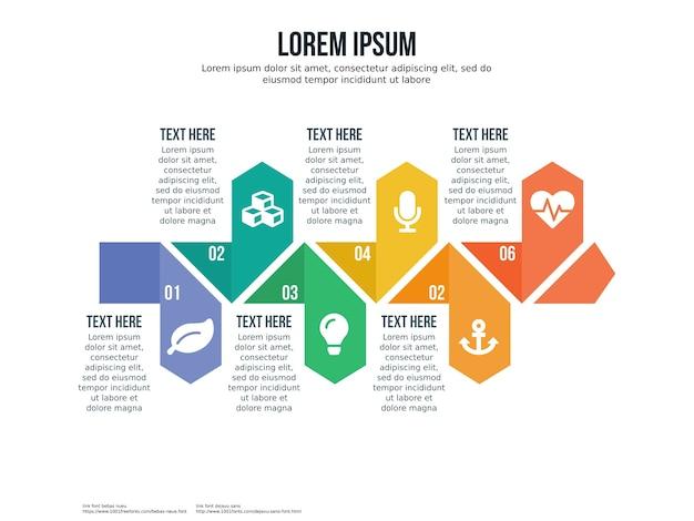 Инфографический элемент и шаблон презентации