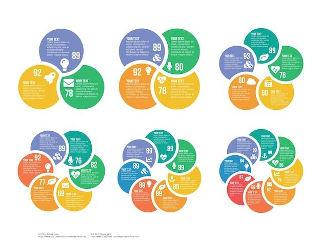 Набор сферического инфографического элемента