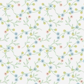 シンプルな花のシームレスなパターンと背景