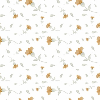 エレガントなグレーの花の背景のシームレスなパターンを飾る
