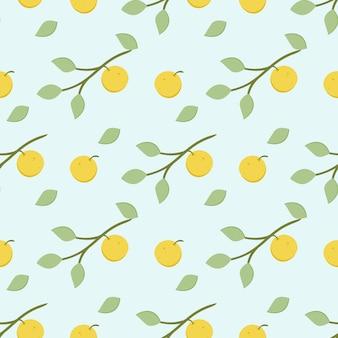 オレンジ色の背景のシームレスなパターンを飾る