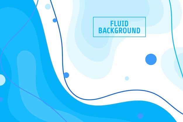 現代の青い流体の背景