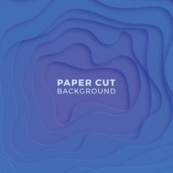 現実的な紙と抽象的な多色背景カットレイヤー