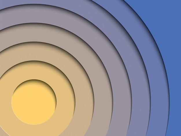 Абстрактный многоцветный фон с реалистичными слоями бумаги вырезать