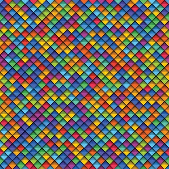 Красочные геометрические бесшовные модели с бумагой вырезать реалистичные элементы