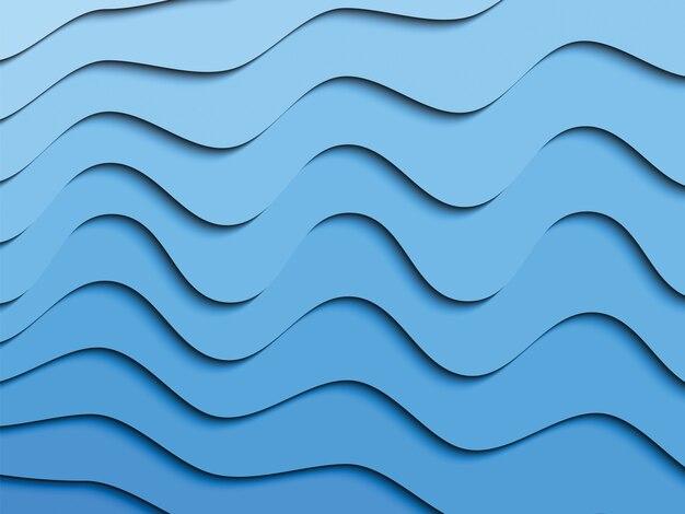 抽象的な流れる液体紙カット図形