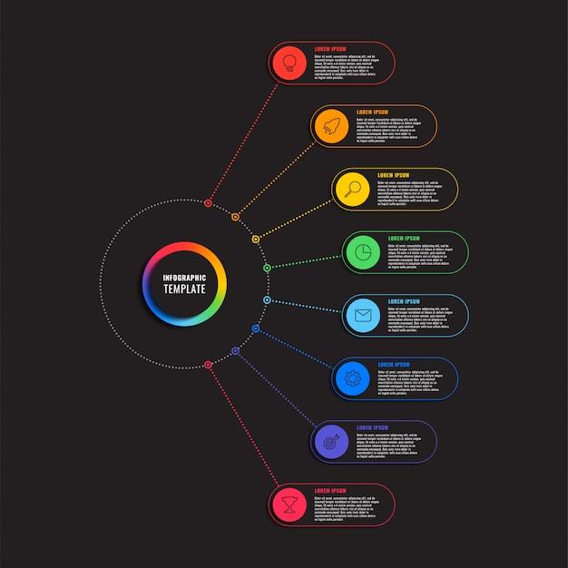 プロセスステップインフォグラフィックテンプレート