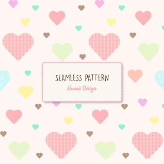 かわいい心透明なシームレスパターン