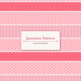 かわいいかわいいピンクのシームレスパターン