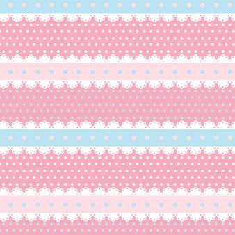 かわいいカワイイピンクとライトブルーのシームレスパターン