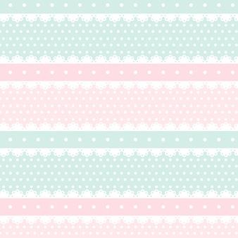 かわいいかわいいピンクとライトグリーンのシームレスパターン