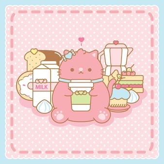 Кофейный котенок