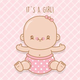 生まれたばかりの女の赤ちゃん
