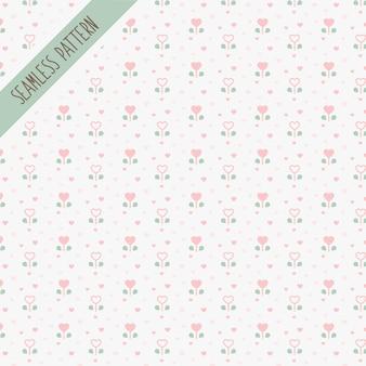 Симпатичные каваи цветочные бесшовные модели