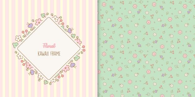 Симпатичная цветочная рамка с цветочным узором
