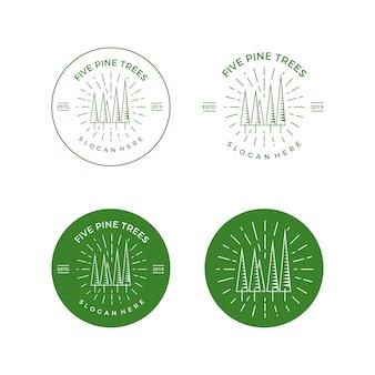 ベクトルのロゴパインツリーエンブレム