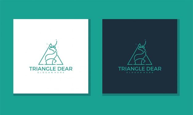 Логотип треугольник дорогая концепция просто