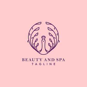 紫孔雀のロゴ