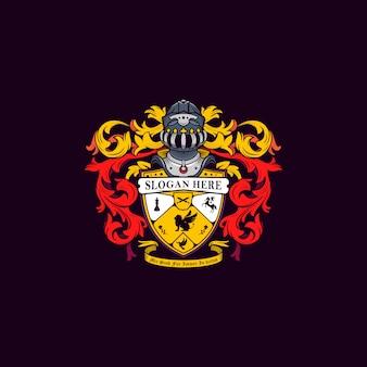 Семейный герб с доспехами