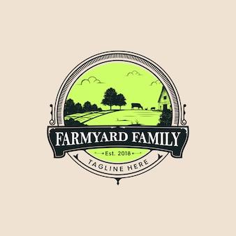 農場の家族のロゴ