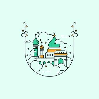 モスクモノラインデザイン