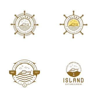 Лодка остров