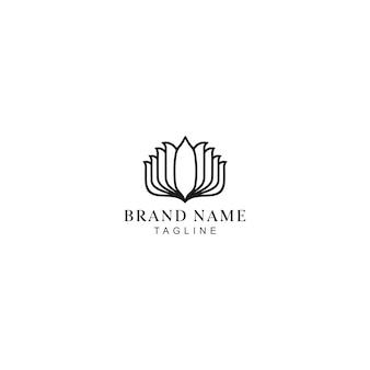 Монолайн йога логотип