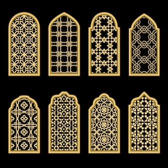 伝統的な金アラビア窓