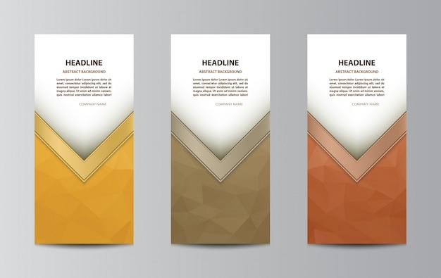 Три раза шаблон брошюры