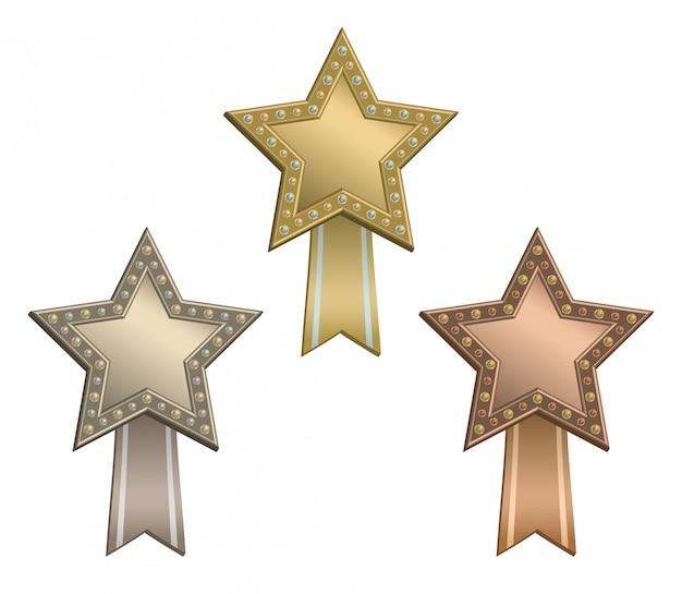 Звездные награды с лентой