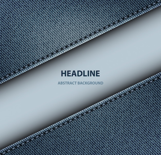 Диагональный фон из джинсовой полосы