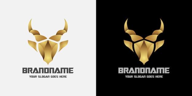 Шаблон логотипа головы оленя