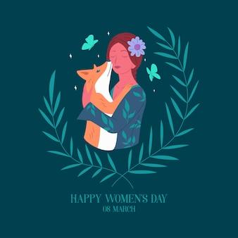 幸せな国際女性の日カード