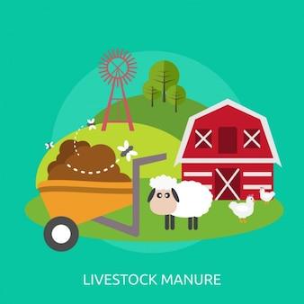 家畜糞尿の背景デザイン