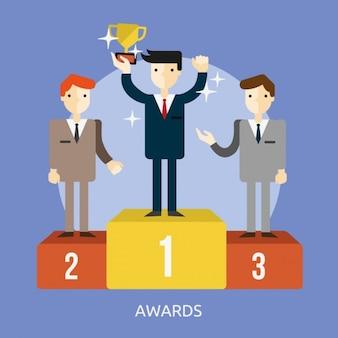 受賞の背景デザイン