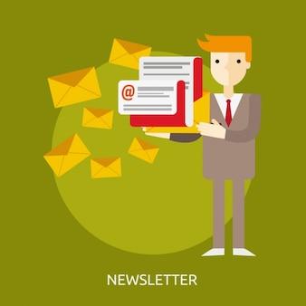 ニュースレターのデザインを送信