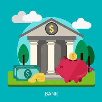 銀行背景デザイン