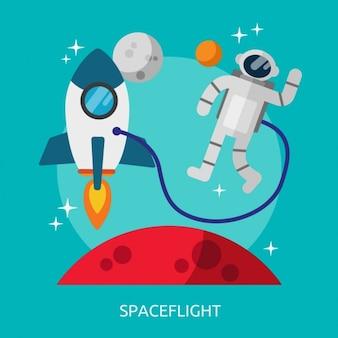 宇宙飛行背景デザイン
