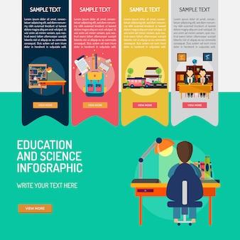 教育インフォグラフィックテンプレート