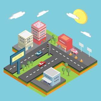 Изометрический дизайн города