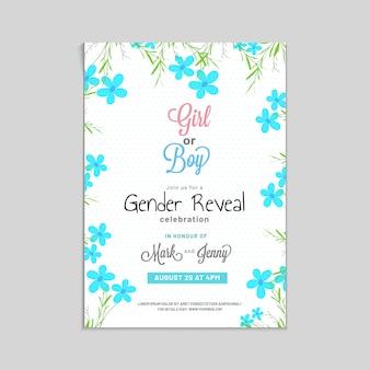 女の子または男の子、ジェンダー公開パーティー招待状の疑問符。