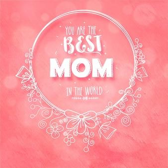 Счастливая концепция празднования дня матери.