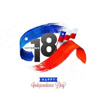 チリの独立記念日の背景デザイン