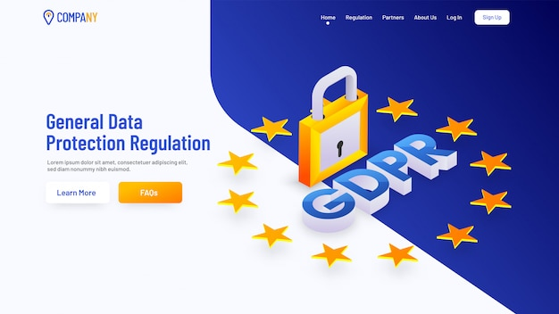 Страница загрузки для общих правил защиты данных