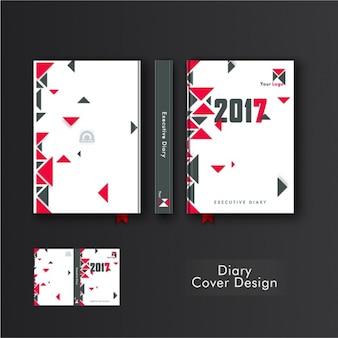 Великий дневник крышка с серыми и розовыми треугольниками